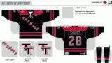 Customized Homens Mulheres Crianças Echl Trenton Titans 2011-2013 Hóquei no Gelo Jersey