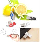 Impulsión impermeable del flash del USB del eslabón giratorio de la impulsión de la pluma