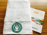 Hoogste Kwaliteit 100% de Katoenen Witte Geborduurde Reeksen van de Handdoek