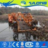 屑の水生Weedの浮遊収穫機を集める川のクリーニング機械かボートまたは船