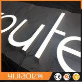 Lettre à LED en résine pour affichage mural extérieur