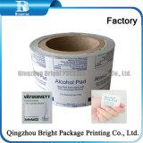 Envase de lámina de aluminio de papel para embalaje de algodón impregnado en alcohol