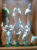 Statua del modello della resina del Cherub del busto della scultura dell'arenaria