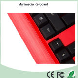 Las claves de 113 Ultra Slim AZERTY francés multimedia con cable mini teclado de diseño (KB-1802M)