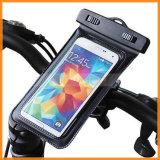 360 Grad-rotierender Fahrrad-Fahrrad-Lenkstange-Montierungs-Halterung-wasserdichter Telefon-Beutel
