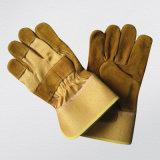 Золотистая работа Glove-3070 Split кожи коровы