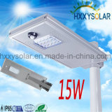 LED 15W de luz de calle solar integrada en China