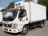 Foton 6 rodas leite e caminhão do transporte da reunião vagão de refrigerador de 6 T