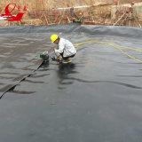 HDPE preto Geomembrane do forro da lagoa da piscicultura de cobertura plástica para a associação