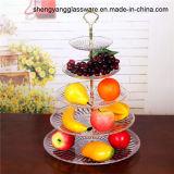 Piatto della frutta del piatto di dessert della lastra di vetro del mestiere della fila del campione libero 3