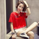 편리한 여자의 t-셔츠 간결 소매 중국제