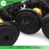 Kinky Curly gros brésilien naturel de qualité supérieure 100% de cheveux humains de la trame