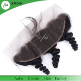 Indian Virgin Natural Black Double Drawn Human Hair Laces Frontal