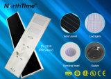 110W het Licht van de hoge Intelligente LEIDENE van de Efficiency Straatlantaarn van het Zonnepaneel