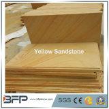 Abgezogene gelbe hölzerne Ader-Sandstein-Platten/Fliesen