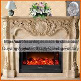 Chimenea de mármol Decoración de Interiores chimenea Mantel rodean MF1706