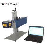 marca del laser del CO2 30W en la máquina de madera de la impresión por láser para las lentes plásticas de la botella