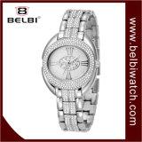 Belbi 여자 스테인리스 금시계 석영 시계 타원형 로마 지상은 시계를 방수 처리한다