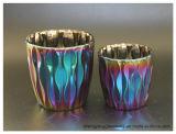 Venda por grosso metalização iónica coloridos titulares de velas decorativas