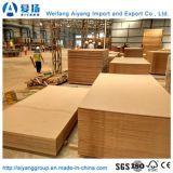 Madera dura E1 pegamento materias MDF MDF llanura/ de Shandong