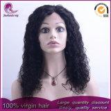 Parrucca malese del merletto della parte anteriore dei capelli del Virgin dell'onda riccia lunga media