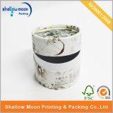 Commercio all'ingrosso impaccante della scatola di di marchio del tubo del cilindro il tè di carta rotondo su ordinazione del fiore (QYZ172)