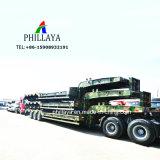 Bajo la cama máquina Lowbed pesado camión de transporte militar Lowbed semi remolque