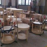 Modernes rundes Holzrahmen-hölzernes Furnier-Blatthölzerner Möbel-Kaffeetisch