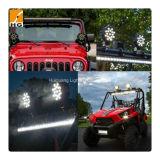 7inch 51W redondo LED luz de trabalho Epistar vermelho / preto 12V 24V LED carro luz