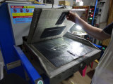 De hand het In reliëf maken Machine van het Leer (Hg-E120T)