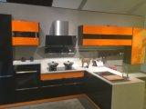 Гуанчжоу глянцевый лак поверхности деревянные кухонные шкафа электроавтоматики