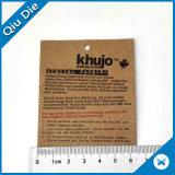 공상 디자인 의류를 위한 선전용 선물 꼬리표 Kraft에 의하여 인쇄되는 꼬리표