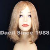 Peruca européia loura do cabelo humano da mulher