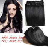 Full Head Indian Remy Clip in Extensões de cabelo humano