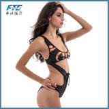 Zwempak van Swimwear van de Bikini van de Manier van het meisje het Duidelijke Ééndelige