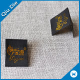 Het Gepersonaliseerde Gouden Kleding Geweven Etiket van Hangzhou Qiudie