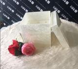 De aangepaste Doos van de Bloem van de Kleur Witte Marmeren Acryl