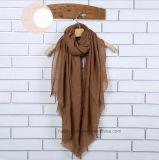 Écharpe /Shawl (Hz71) de femmes de l'hiver teinte par plaine de mode