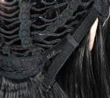 Puntilla de encaje frontal completo peluca peluca Virgen pelucas cabello humano.
