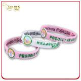 Пылать с Wristband цвета напечатанным шелковой ширмой резиновый