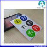 Стикер печатание 13.56MHz RFID NFC логоса бумажный с прилипателем 3m