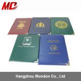 Kundenspezifisches Staffelung-Bescheinigungs-Halter PU-Material mit Folien-Firmenzeichen