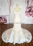 Платье венчания Mermaid 2016 классик шнурка Halter качества Beaded Bridal