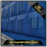 Forme carrée mur rideau bleu façade en aluminium perforé (KH-CW-57)