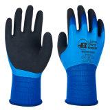 Revêtement en nylon 13G Triple sécurité main étanche des gants de travail