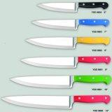 Нож в западном стиле шеф-повара цветные ручки Stainess ножа стальной шеф-повар ножа