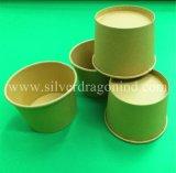 Tazón de fuente de sopa de papel disponible abonable biodegradable de encargo 200ml