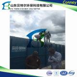 コンテナに詰められたMbrの国内下水の廃水の処理場