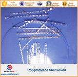 Hoher Faser-Einzelheizfaden/Ineinander greifen des Hartnäckigkeit-Polypropylen-pp./verdrehten sich,/Welle für Beton