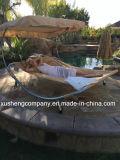 De Stoel/het Bed van de Schommeling van de Tuin van het terras met Zonnescherm